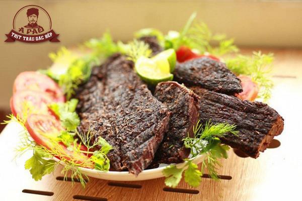 bảo quản thịt trâu gác bếp