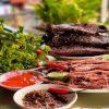 thịt trâu gác bếp Điện Biên